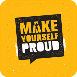 Make Yourself Proud Workout Sticker