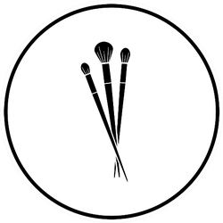 Makeup Brushes Symbol Sticker