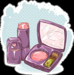Makeup Illustration Sticker