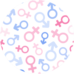 Male And Female Symbols Pattern In Pastel Sticker