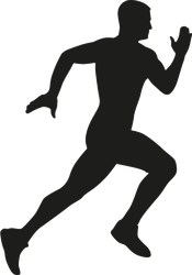 Male Runner Silhouette Sticker