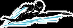 Male Swimming Front Crawl Sticker