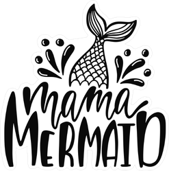Mama Mermaid Transfer Sticker