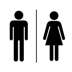Man And Lady Toilet Sign Sticker