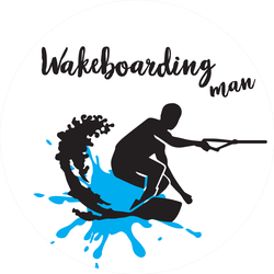Man On A Wakeboard Sticker