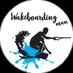 Man On A Wakeboard Sticker