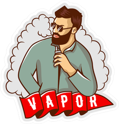 Man With Vape Cloud Sticker