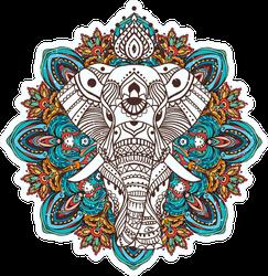 Mandala Boho Elephant Sticker