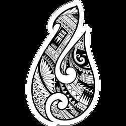 Maori Ethnic Style Fish Hook Tattoo Sticker