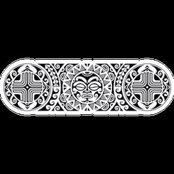 Maori Polynesian Tattoo Border Sticker