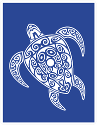 Maori Style Sea Turtle Sticker