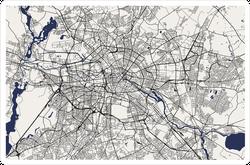 Map of Berlin, Germany Sticker