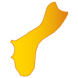 Map Of Guam In Yellow Sticker