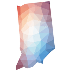Map Of Indiana Low Poly Illustration Sticker