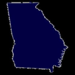 Map Of The U.s. State Of Georgia Sticker