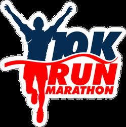 Marathon Race Winner Running Sticker