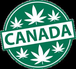Marijuana Canada Badge Sticker
