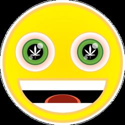 Marijuana Smiling Face Emoji Sticker