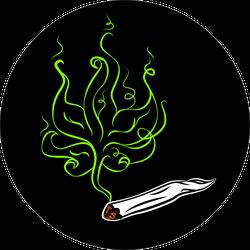 Marijuana Smoke Blunt Sticker
