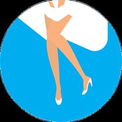 Marilyn Monroe Legs Sticker