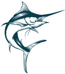 Marlin Fish Sticker