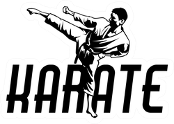 Martial Art Karate Sport Symbol Illustration Sticker