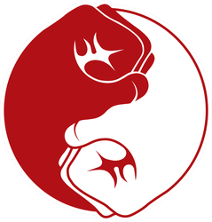 Martial Arts Fists Making The Yin Yang Sticker