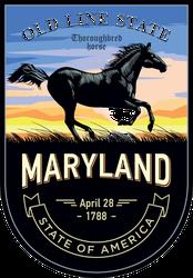 Maryland Banner Sticker