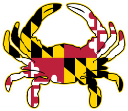 Maryland Flag Crab Illustration Sticker