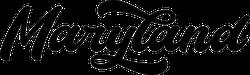 Maryland Modern Calligraphy Sticker