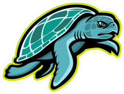Mascot of Kemp's Ridley Sea Turtle Sticker