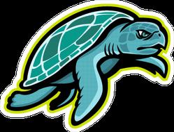 Mascot of Kemp's Ridley Sea Turtle Sticker
