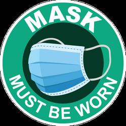Mask Must be Worn Sticker