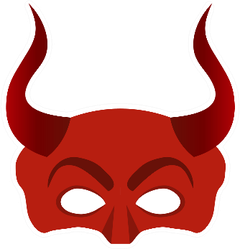Mask Of The Devil With Horns Sticker