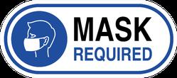 Mask Required Symbol Sticker