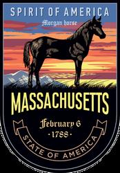 Massachusetts Banner Sticker