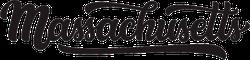 Massachusetts Calligraphy Sticker