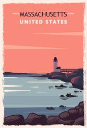 Massachusetts Travel Sticker
