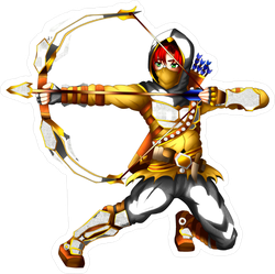 Medieval Era Anime Archer Sticker
