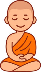 Meditation Buddhist Monk Sticker