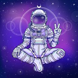 Meditation In Space Sticker