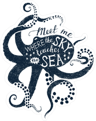 Meet Me Where The Sky Touches The Sea Sticker