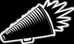 Megaphone Shout-out Cheerleader Sticker