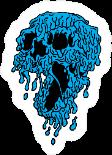 Melting Slime Skull Illustration Sticker