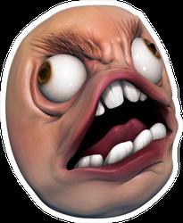 Meme Troll Head Sticker