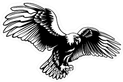 Menacing Eagle Sticker