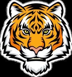 Menacing Tiger Head Sticker