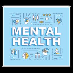 Mental Health Icons Sticker
