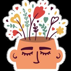 Mental Health Illustration Sticker