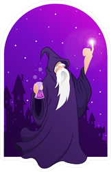 Merlin Wizard In Arch Sticker